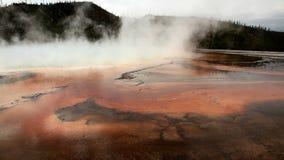 Thermische hete pools in Yellowstone stock footage