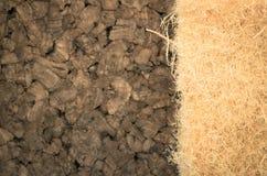 thermische isolerende hennepvezel en samengeperste cork panelen Stock Foto's