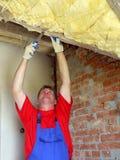 Thermische Isolierung des Dachbodens Lizenzfreie Stockfotos