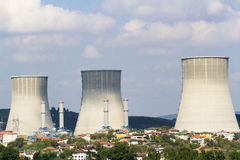 Thermische krachtcentrale Stock Foto
