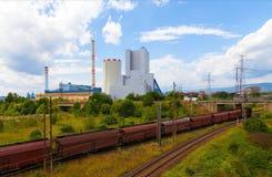 Thermische krachtcentrale in Tsjechische Republiek royalty-vrije stock foto's