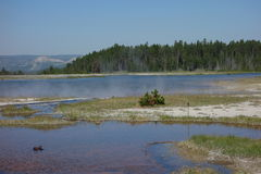 thermische Pools an Yellowstone-Park Lizenzfreies Stockbild