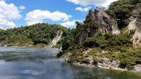 Thermischer blauer See vulkanischen Tales Waimangu Lizenzfreie Stockbilder