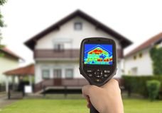 Thermisches Bild des Hauses Lizenzfreie Stockfotografie