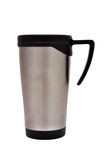 Thermo Cup. Metal Thermo Cup on a white background Stock Image