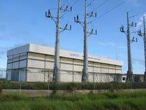 Thermo-elektrische installatie, Elektriciteit Royalty-vrije Stock Afbeeldingen