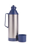 Thermo flask on background Stock Image