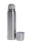 Thermo flask on background Royalty Free Stock Image