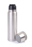 Thermo flask on background Royalty Free Stock Images