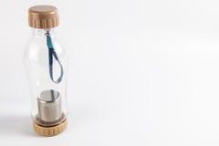 Thermo flaska med högert fritt utrymme Royaltyfri Fotografi