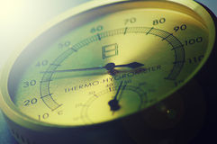 Thermo-hygrometer Arkivbild