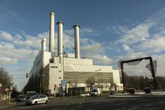 Thermo power plant in Munich, Germany Royalty Free Stock Photo