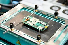 Thermo tables for electronic boards. And chips royalty free stock photo