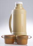 Thermo, Thermo flask on background. Royalty Free Stock Photos