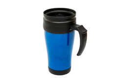 Thermocup blue isolated Stock Image