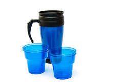 Thermocup blue isolated Royalty Free Stock Photo