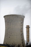 Thermoelectric cooling tower with smoke Stock Images