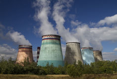 Thermoelectric plant Royalty Free Stock Image