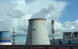 Thermoelectric plant  Royalty Free Stock Photography