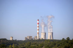 Thermoelectric Power Station, Energy, Environment Royalty Free Stock Photos