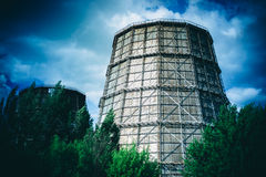 Thermoelectric power station, Royalty Free Stock Photography