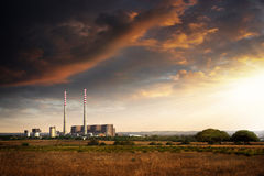Thermoelectrical plant Stock Photo