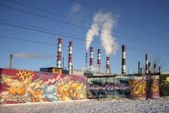 Thermoelektrisches Kraftwerk Stockfotografie