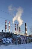 Thermoelektrisches Kraftwerk Stockfotos