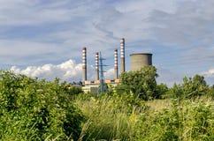 Thermoelektrisches Kraftwerk Sofia Iztok Stockfotos