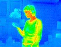 Thermografiek-meisje lezing royalty-vrije stock foto