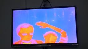 Thermografische cameramening stock videobeelden