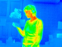 Thermograph-girl reading royalty free stock photo