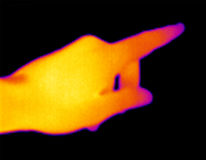 Thermograph-Indicating Hand Stock Image