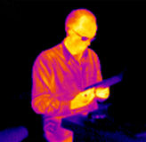 Thermograph-Reading man Stock Image