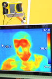 Thermographic camera. And thermographic image Royalty Free Stock Images
