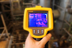 Thermographic camera. In a power plant Stock Photography