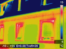 Thermographic picture. Of a house Royalty Free Stock Photography