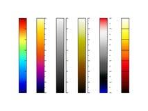 Thermographic vektor för kamerafärgpaletter royaltyfri foto