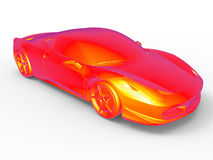 Thermographic view sports car Stock Photography