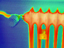 Thermographie de radiateur Photo libre de droits