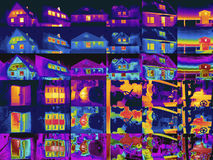 Thermography. Several thermogrphy pictures to a Kollage joined Royalty Free Stock Photo