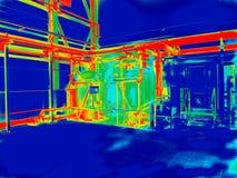 Thermography da engenharia industrial foto de stock royalty free