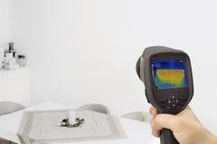Thermography do aquecimento da parede Fotografia de Stock