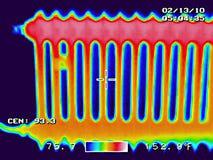 Thermography do radiador Foto de Stock