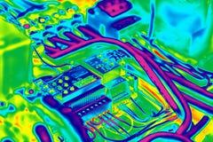 Thermography inrared bonde fotografia de stock