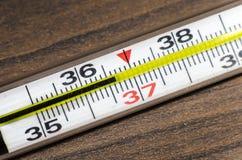 Thermomètre à mercure 36 6 Photos libres de droits