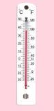 Thermomètre 100f image libre de droits
