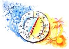 thermomètre Photos stock