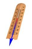 Thermomètre avec Celsius Photos stock