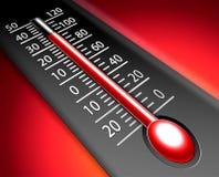 Thermomètre chaud Images libres de droits